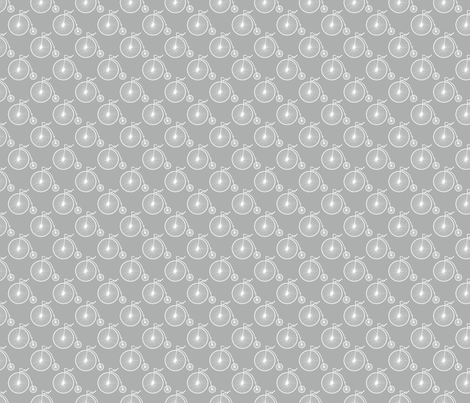 Big Wheel Silver fabric by littlerhodydesign on Spoonflower - custom fabric