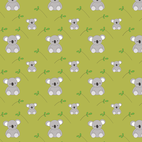 Koalas fabric by witee on Spoonflower - custom fabric