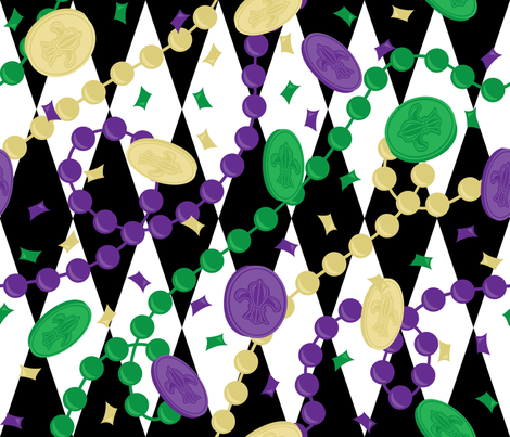 Mardi Gras Throws fabric by robyriker on Spoonflower - custom fabric