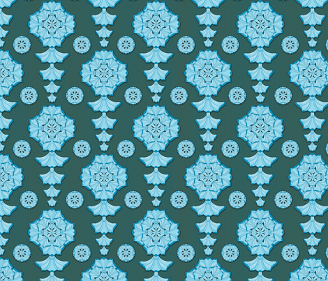 glorius_damask_blueberry_chocolate fabric by glimmericks on Spoonflower - custom fabric
