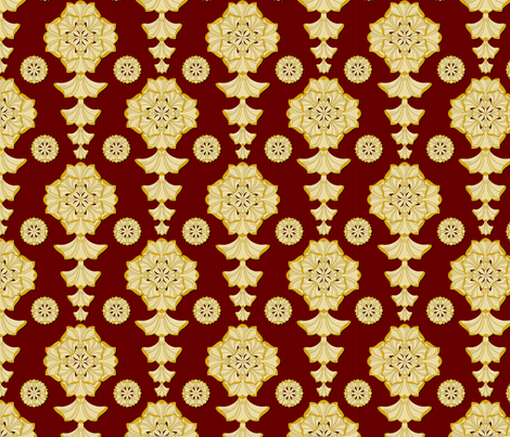 glorius_damask_royale fabric by glimmericks on Spoonflower - custom fabric
