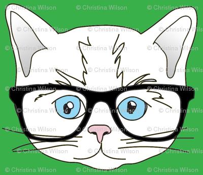 Kitten Hipster Green Small