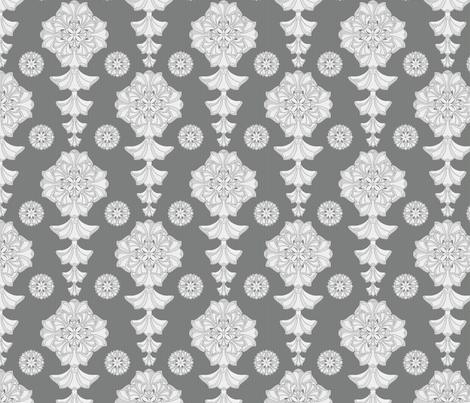 glorius damask palatial fabric by glimmericks on Spoonflower - custom fabric