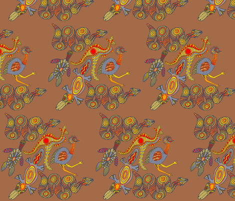 Zen Dreaming appliques 249 fabric by wiccked on Spoonflower - custom fabric
