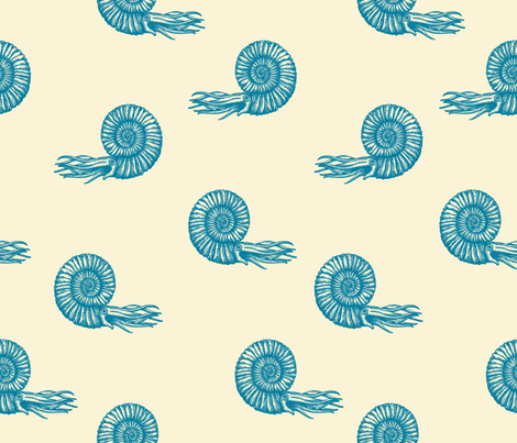 ammonite emerald 50 fabric by chicca_besso on Spoonflower - custom fabric