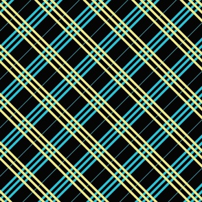 Black Aqua Plaid