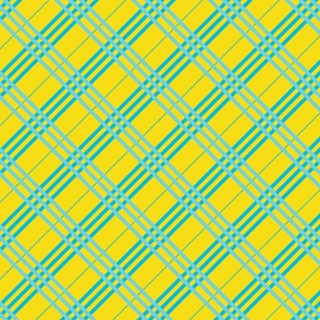 Yellow Teal Plaid