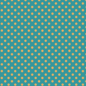dots_mustard_yellow_on_teal