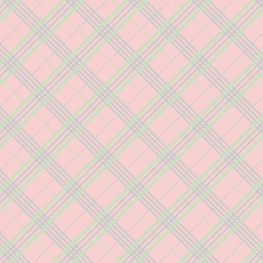 Pink Mineral Green Plaid