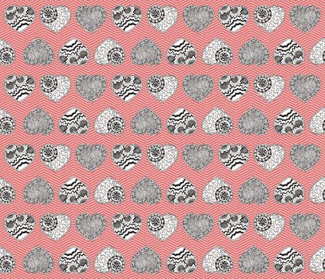 My Paper Valentine fabric by kfay on Spoonflower - custom fabric