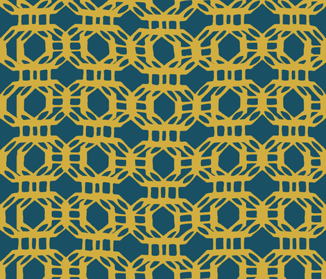 liquid_grid_gold fabric by chicca_besso on Spoonflower - custom fabric