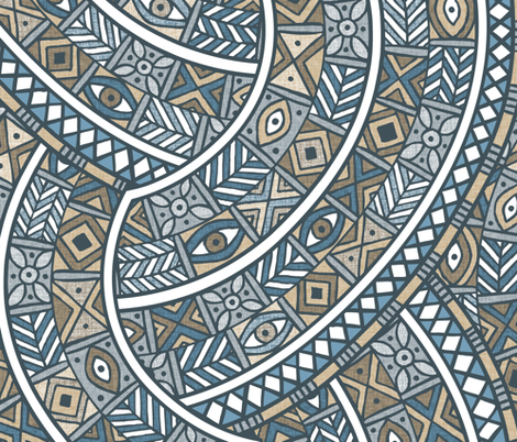 Oba Zinc fabric by spellstone on Spoonflower - custom fabric