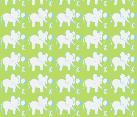 LARGE SCALE Lets Be Friends Green and Aqua   fabric by kbexquisites on Spoonflower - custom fabric