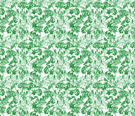 Tangled Garden - Green & White fabric by gail_mcneillie on Spoonflower - custom fabric