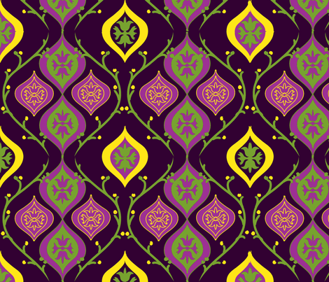 king cake ©Jill Bull fabric by palmrowprints on Spoonflower - custom fabric