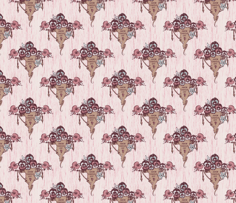 Love is Blind - berry fabric by thecalvarium on Spoonflower - custom fabric