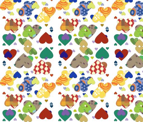 corações_coloridos fabric by ana_somaglia on Spoonflower - custom fabric