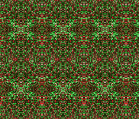 Wilderness In Green And Red Fabric Claudiaowen Spoonflower
