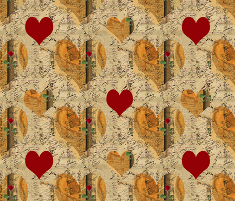 Beating Hearts fabric by anniedeb on Spoonflower - custom fabric