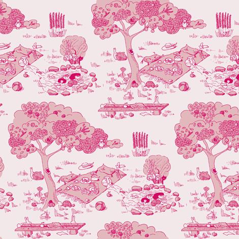 A fishy mystery - red version fabric by domoshar on Spoonflower - custom fabric