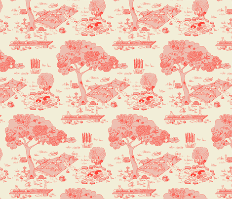 A fishy mystery - pink version fabric by domoshar on Spoonflower - custom fabric