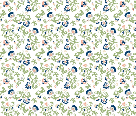 Oh Suzani Neutral Vines fabric by heather_b_design on Spoonflower - custom fabric