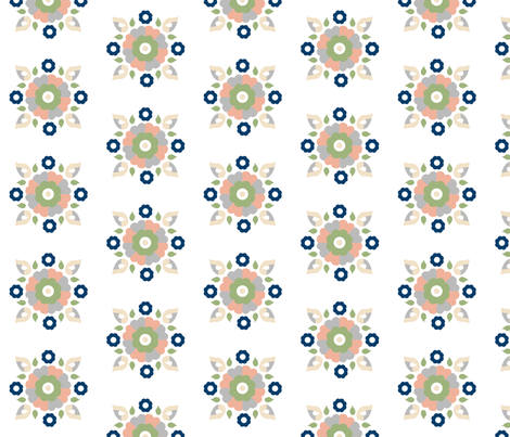Oh Suzani Neutral Small Medallion fabric by heather_b_design on Spoonflower - custom fabric
