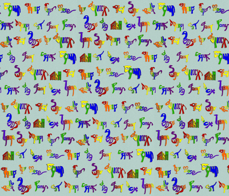 OldMacDonald's Farm fabric by eclectic_house on Spoonflower - custom fabric