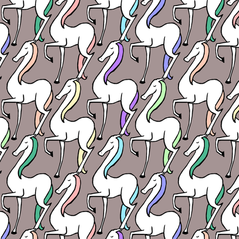 Horse March fabric by pond_ripple on Spoonflower - custom fabric