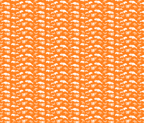 Pool Party Down Under - Mini on Orange fabric by aldea on Spoonflower - custom fabric