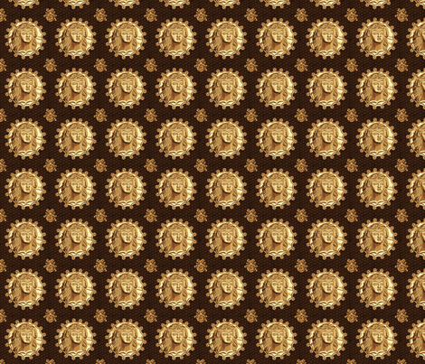 Thracian_medallion-gold fabric by glimmericks on Spoonflower - custom fabric