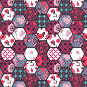 hexies pattern anemones collection