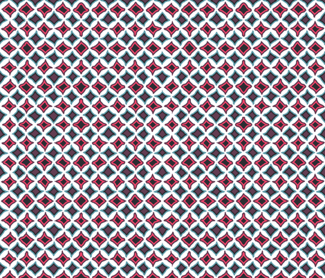 cathedral window coordinate fabric by katarina on Spoonflower - custom fabric