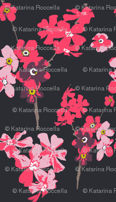 flowers on dark grey