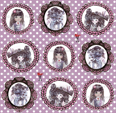Masquerade cameo girls with keys