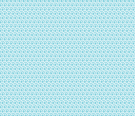 Small double scales in aqua - skewed - small 685 fabric by little_fish on Spoonflower - custom fabric