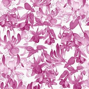 Tangled Garden - Pink & White