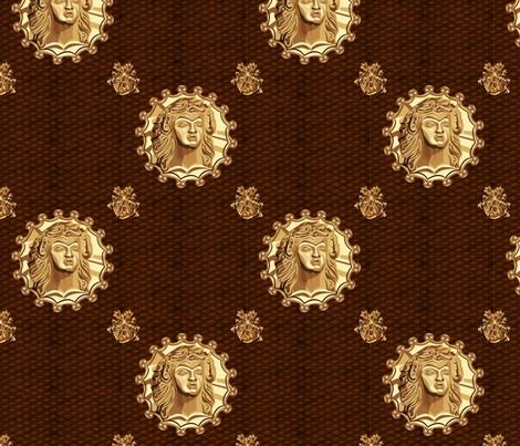 ancient_medallion_brass_slide fabric by glimmericks on Spoonflower - custom fabric