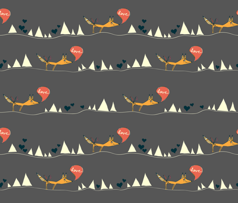 Desert Love Fox fabric by joyfulroots on Spoonflower - custom fabric