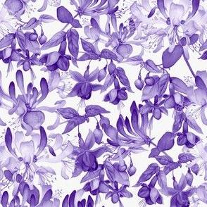 Tangled Garden - Violet & White