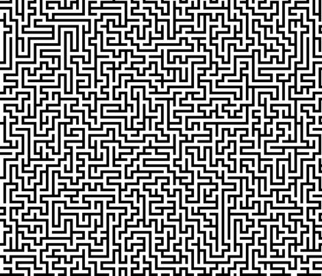 Maze fabric by kimsa on Spoonflower - custom fabric