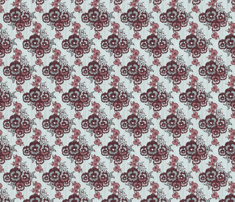 Love is Floral fabric by thecalvarium on Spoonflower - custom fabric