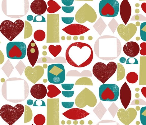 sweetheart-love fabric by ottomanbrim on Spoonflower - custom fabric