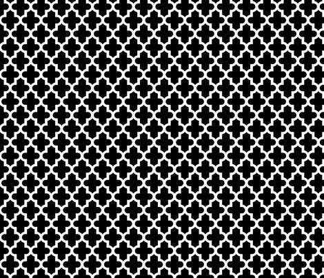 Black and White Moroccan fabric by sweetzoeshop on Spoonflower - custom fabric