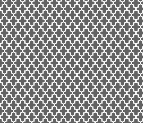 Charcoal Gray Moroccan fabric by sweetzoeshop on Spoonflower - custom fabric