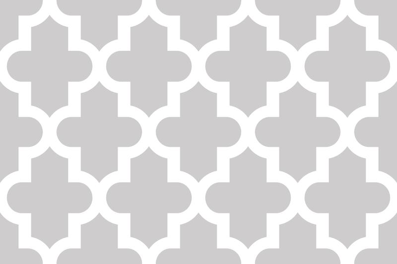 Light Gray Moroccan Wallpaper