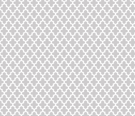 Light Gray Moroccan Fabric By Sweetzoeshop On Spoonflower