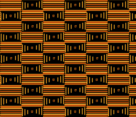african_stripes_black fabric by hmooreart on Spoonflower - custom fabric