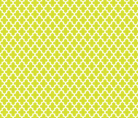 Lime Green Moroccan fabric by sweetzoeshop on Spoonflower - custom fabric