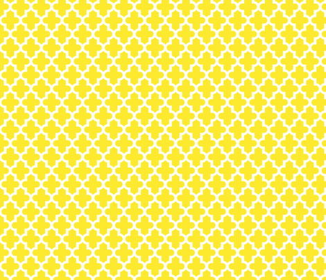 Yellow Moroccan fabric by sweetzoeshop on Spoonflower - custom fabric